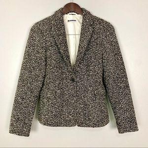 Jil Sander Wool Tweed Blazer Single Button Luxury